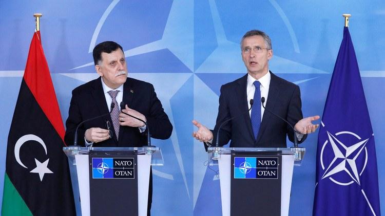 السراج ليبيا الناتو